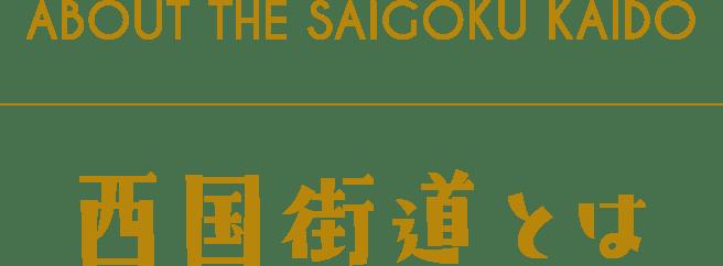 ABOUT THE SAIGOKU KAIDO 西国街道とは