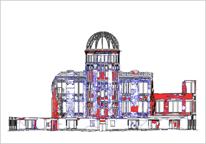 Drawings c2 of the Atomic Bomb Dome