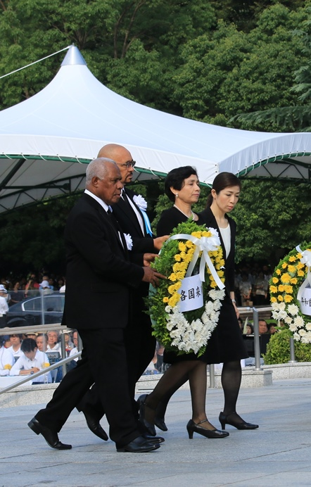 The picture of Ambassadors who attended the 2016 Peace Memorial Ceremony2