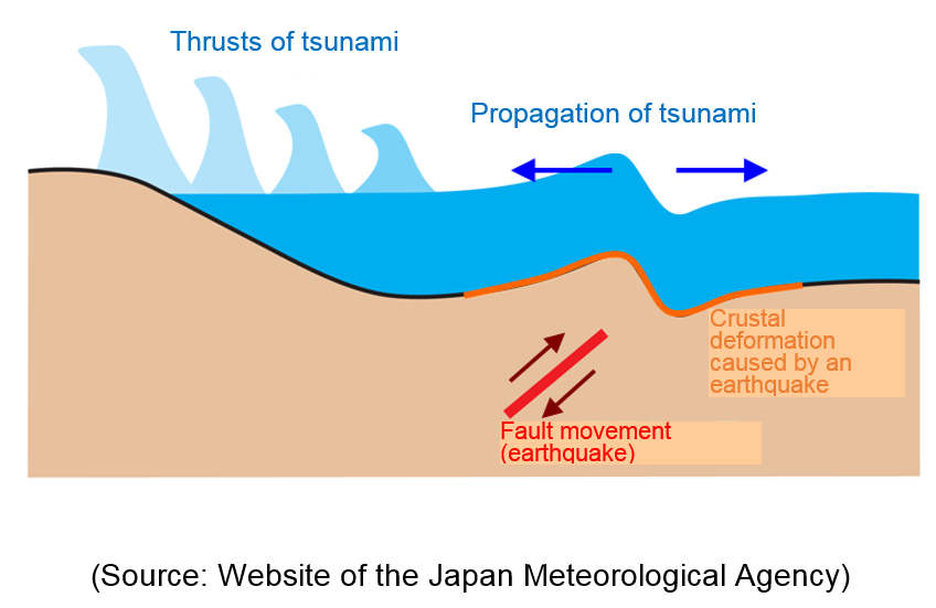 The picture of what is a tsunami